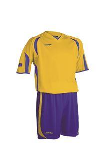 Afbeelding van voetbaltenue geel-blauw