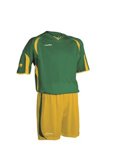 Afbeelding van voetbaltenue groen-geel