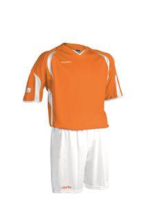 Afbeelding van voetbaltenue oranje-wit