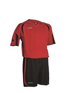 Afbeelding van voetbaltenue rood-zwart