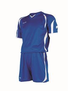 Afbeelding van voetbaltenue blauw-wit