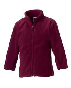 Afbeelding van Full Zip Outdoor Fleece Burgundy