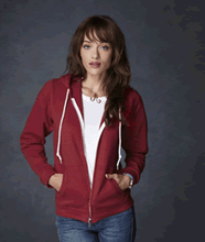 Picture of Anvil ladies full zip hooded sweat  Red