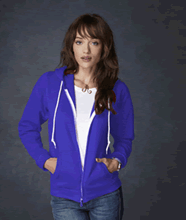 Picture of Anvil ladies full zip hooded sweat  Royal Blue