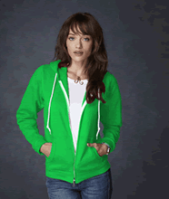 Picture of Anvil ladies full zip hooded sweat  Apple Green