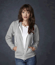 Picture of Anvil ladies full zip hooded sweat  Sport Grey