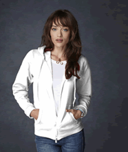 Picture of Anvil ladies full zip hooded sweat  White