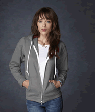 Picture of Anvil ladies full zip hooded sweat  Charcoal