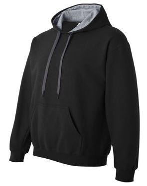 Afbeelding van Heavy blend adult contrasted hooded sweatshirt Black / Sport Grey