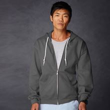 Picture of Anvil full zip hooded sweat  Charcoal