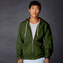 Picture of Anvil full zip hooded sweat  City Green