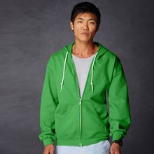 Picture of Anvil full zip hooded sweat  Apple Green