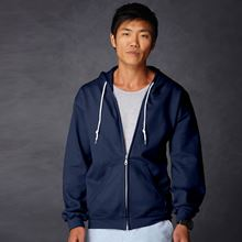Picture of Anvil full zip hooded sweat  Navy
