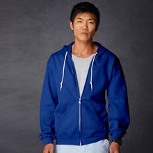 Picture of Anvil full zip hooded sweat  Royal Blue