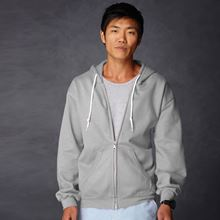 Picture of Anvil full zip hooded sweat  Sport Grey