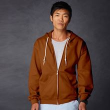 Picture of Anvil full zip hooded sweat  Texas Orange