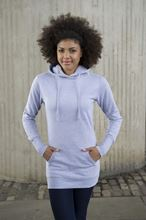 Picture of Longline Hoodie Heather Grey