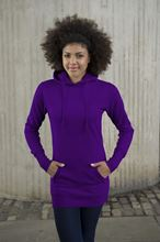 Picture of Longline Hoodie Purple