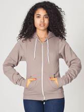 Picture of Unisex Flex Fleece Zip Hoodie van American Apparel Pewter