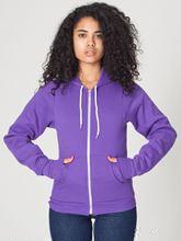 Picture of Unisex Flex Fleece Zip Hoodie van American Apparel Purple