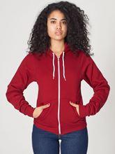 Picture of Unisex Flex Fleece Zip Hoodie van American Apparel Red