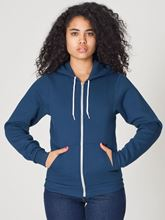 Picture of Unisex Flex Fleece Zip Hoodie van American Apparel Sea Blue