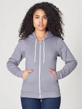 Picture of Unisex Flex Fleece Zip Hoodie van American Apparel Slate