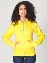 Picture of Unisex Flex Fleece Zip Hoodie van American Apparel Sunshine