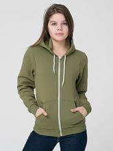 Picture of Unisex Flex Fleece Zip Hoodie van American Apparel Barrack Green