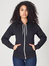 Picture of Unisex Flex Fleece Zip Hoodie van American Apparel Black
