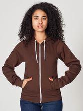 Picture of Unisex Flex Fleece Zip Hoodie van American Apparel Brown