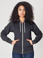 Picture of Unisex Flex Fleece Zip Hoodie van American Apparel Dark Heather Grey
