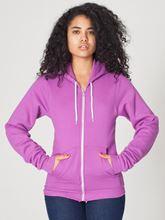Picture of Unisex Flex Fleece Zip Hoodie van American Apparel Dark Orchid