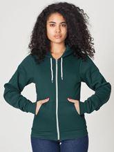 Picture of Unisex Flex Fleece Zip Hoodie van American Apparel Deep Green