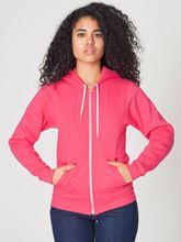 Picture of Unisex Flex Fleece Zip Hoodie van American Apparel Deep Pink