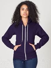 Picture of Unisex Flex Fleece Zip Hoodie van American Apparel Imperial Purple