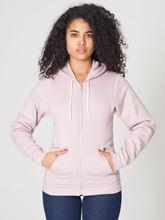 Picture of Unisex Flex Fleece Zip Hoodie van American Apparel Mauve