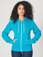 Picture of Unisex Flex Fleece Zip Hoodie van American Apparel Mermaid Green
