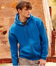 Picture of Fruit of the Loom Premium Hooded Sweat Jacket Royal Blue