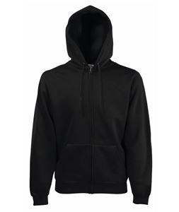 Afbeelding van Fruit of the Loom Premium Hooded Sweat Jacket Black