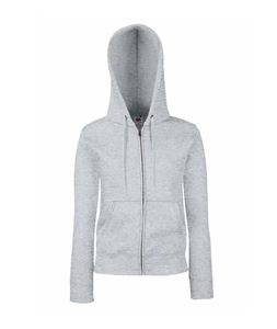 Afbeelding van Fruit of the Loom Premium Hooded Sweat Jacket Lady-Fit Heather Grey