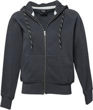 Picture of Tee Jays Ladies Hooded Zip-Sweat Dark Grey