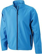 Picture of Heren Softshell Jack J&N Azuur Blauw