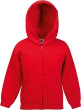 Picture of Kids hooded sweat jacket fruit of the loom Red