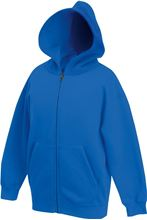 Picture of Kids hooded sweat jacket fruit of the loom Royal Blue