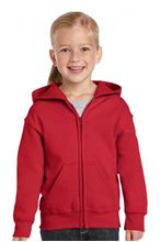 Picture of Heavy Blend™ Youth Full Zip Hooded Sweatshirt Red