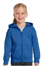 Picture of Heavy Blend™ Youth Full Zip Hooded Sweatshirt Royal Blue
