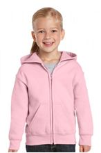 Picture of Heavy Blend™ Youth Full Zip Hooded Sweatshirt Light Pink