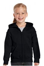 Picture of Heavy Blend™ Youth Full Zip Hooded Sweatshirt Black