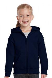 Afbeelding van Heavy Blend™ Youth Full Zip Hooded Sweatshirt Navy